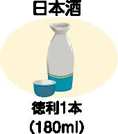 1日の飲酒量の目安/日本酒・徳利1本(180ml)