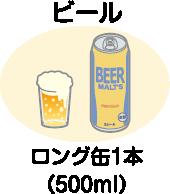 1日の飲酒量の目安/ビール・ロング缶1本(500ml)